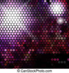 Gold disco lights - vector abstract background