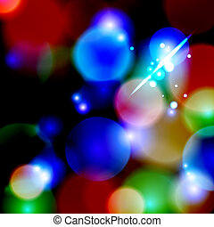Blue Bokeh background. vector illustration. 10 eps