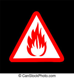 fire symbol vector sign. Flammable. sign. 10 eps