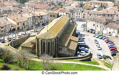 Church in Carcassonne, located in the Aude, near to Massif...