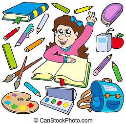 Back to school collection 3 - isolated illustration