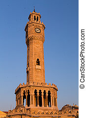 Izmir Clock Tower in Konak Square, Turkey