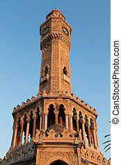 Izmir Clock Tower in Konak Square, Turkey