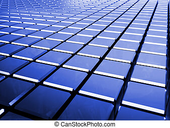 glossy abstract blue background from cubes