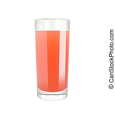 grapefruit juice - Grapefruit juice in glass on white...