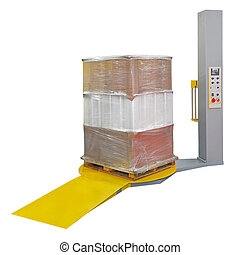 Stretch wrapping for pallet protection during transport...