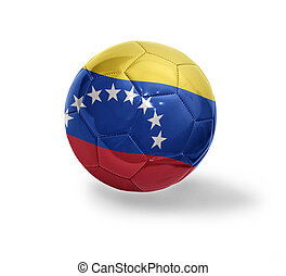 Venezuelan Football - Football ball with the national flag...