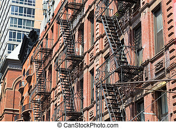 Typical Fire Escapes in New York City