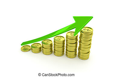 business graph of growing wealth