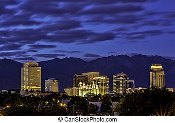 The city of Salt lake city in the morning - Salt lake City...