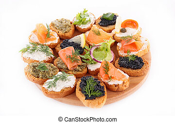 canape, finger food