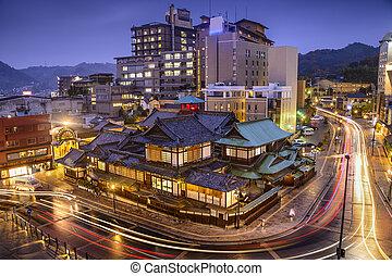 Matsuyama, Japan Cityscape - Matsuyama, Japan downtown...