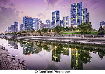 Beijing CBD Skyline - Beijing, China CBD city skyline.