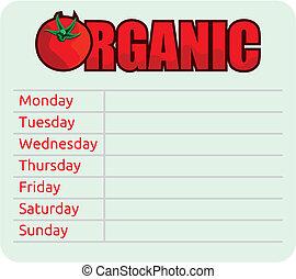 organic schedule