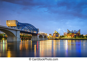 Chattanooga, Tennessee Skyline - Chattanooga, Tennessee, USA...