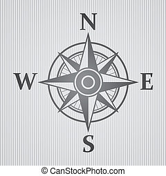 Wind rose gray - Big wind rose on white background. eps10