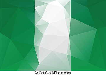 Nigerian flag - triangular polygonal pattern