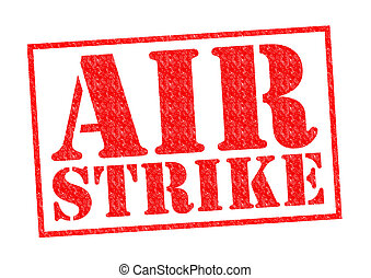 AIR STRIKE red Rubber Stamp over a white background.