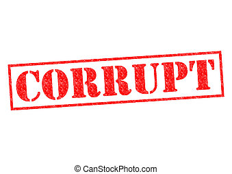 CORRUPT red Rubber Stamp over a white background.