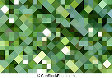 green square mosaic - texture of 3d square and triangle...