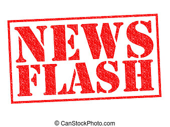 NEWS FLASH red Rubber Stamp over a white background