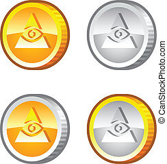Coins with Eye