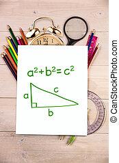compuesto, imagen, de, trigonometría,