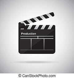film design - film design over gray background vector...