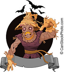 Scarecrow - Illustration of very scary scarecrow