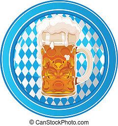 Oktoberfest circle button - Oktoberfest Celebration circle...