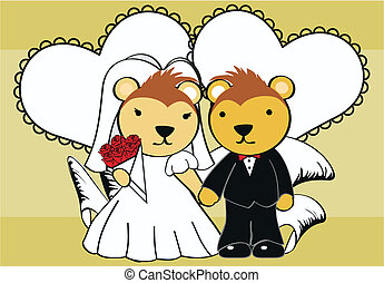 porcupine married cartoon background in vector format very...
