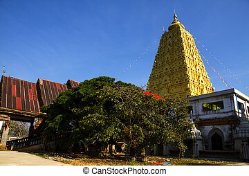 Bodh Gaya and tree in district Sangkhlaburi, Kanchanaburi...
