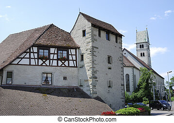 City of Meersburd - Historic architecture in the city of...