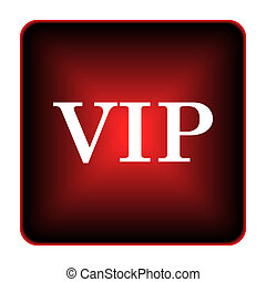 VIP icon. Internet button on white background.