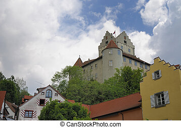 Castle of Meersburg at lake Bodensee...