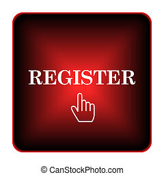 Register icon. Internet button on white background.
