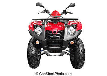 4x4 atv - front view of atv isolated