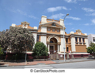 Newcastle Courthouse was built in 1890 and is still in use A...