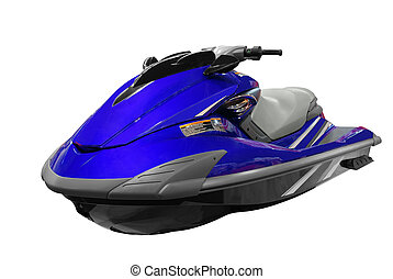 jet-ski - front view of jet-ski isolated