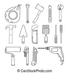 Tools design over white background,vector illustration