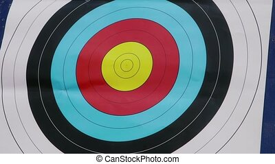 Arrows, bow, archery, sport, target - People shooting...