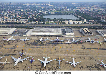BANGKOK THAILAND AUGUST 20 : passenger and comercial plane...