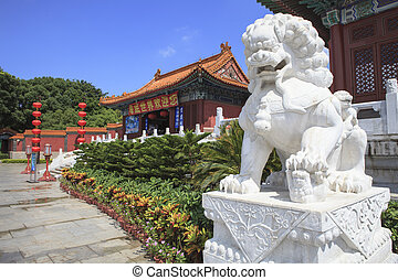 front view of Simulation of Old Summer Palace ,Gardens of...
