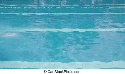 People, man in swimming pool, sport