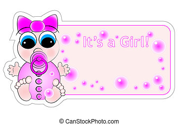 New Birth Label - Baby Girl