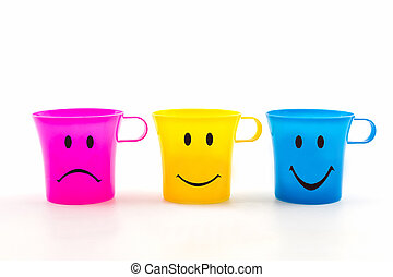 Colorful of cup with expressions - Colorful of cup with...