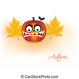 pumpkin and autumn background