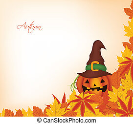pumpkin autumn background