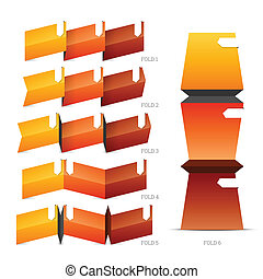 Fold Crease Paper Elements - Vector illustration of fold...