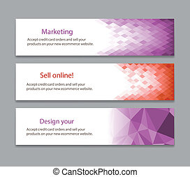 Abstract light purple banner